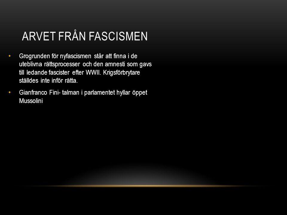 Arvet från fascismen