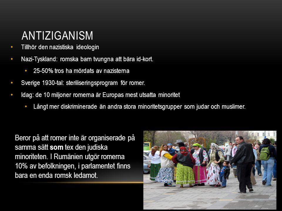 Antiziganism Tillhör den nazistiska ideologin. Nazi-Tyskland: romska barn tvungna att bära id-kort.