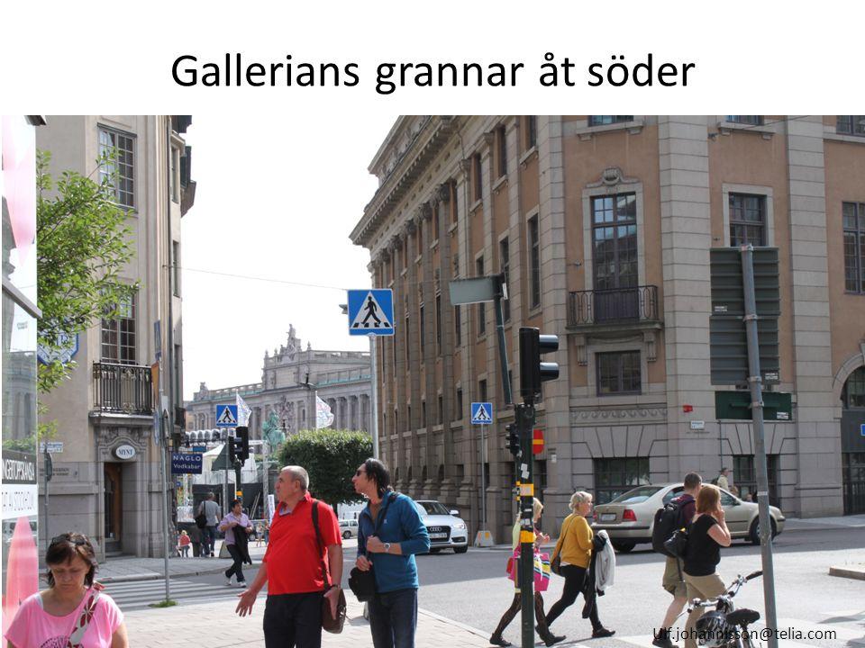 Gallerians grannar åt söder