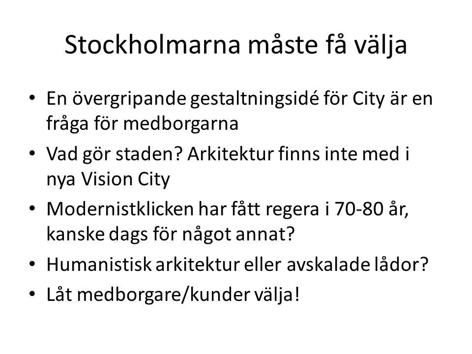 Stockholmarna måste få välja
