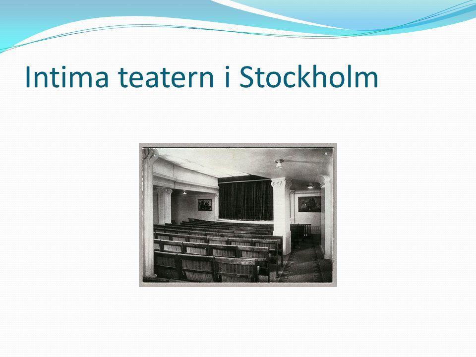 Intima teatern i Stockholm