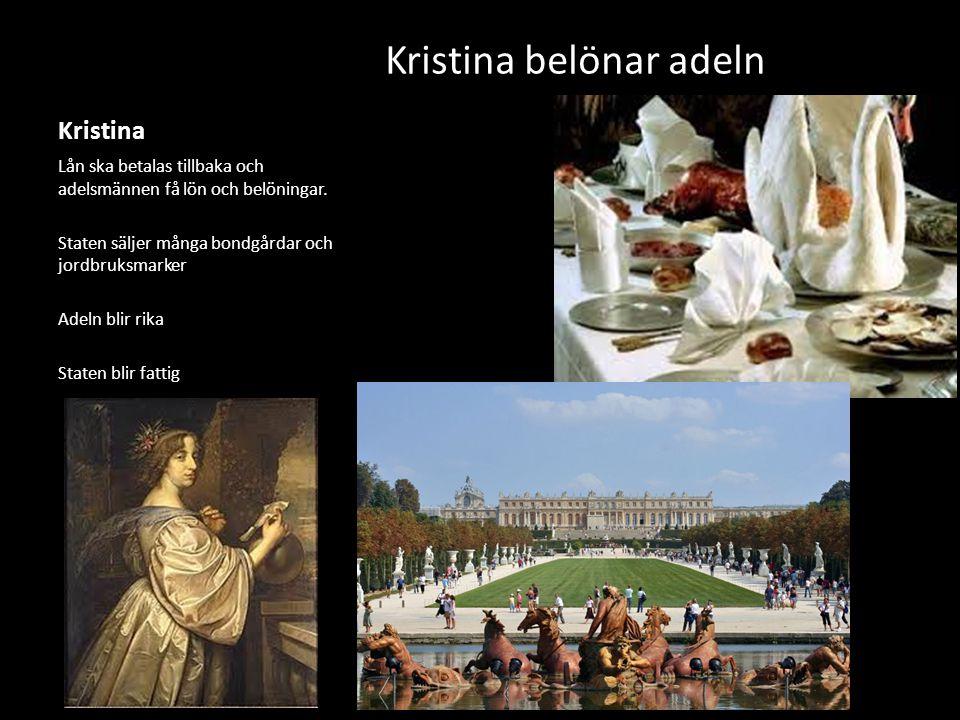 Kristina belönar adeln
