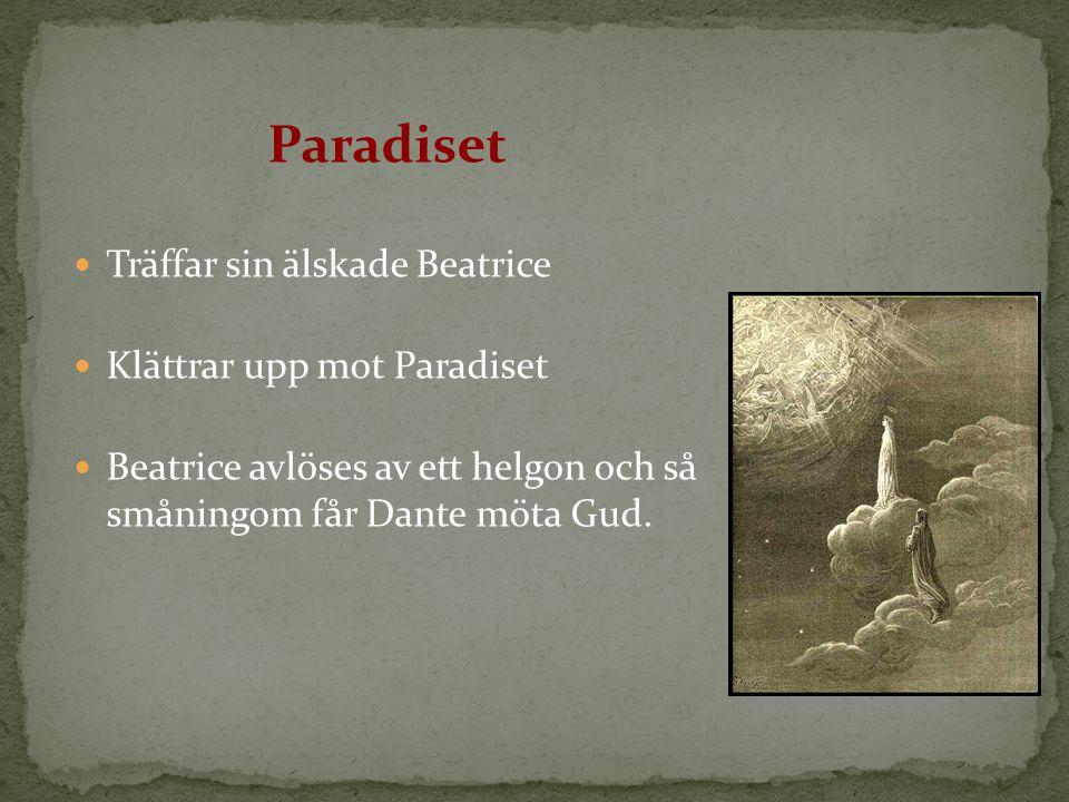 Paradiset Träffar sin älskade Beatrice Klättrar upp mot Paradiset