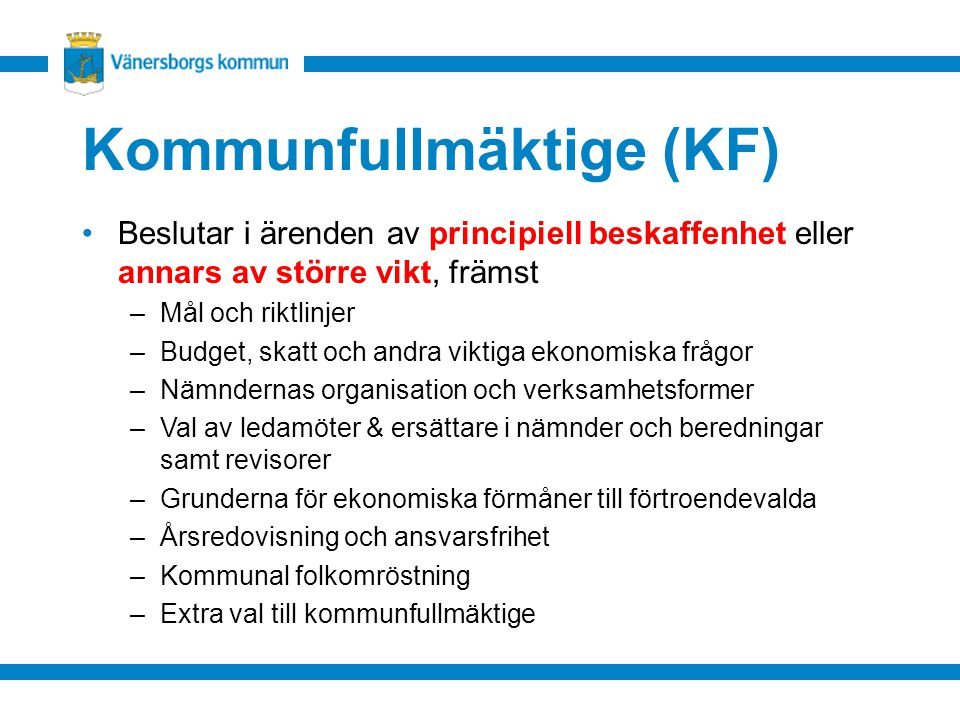 Kommunfullmäktige (KF)
