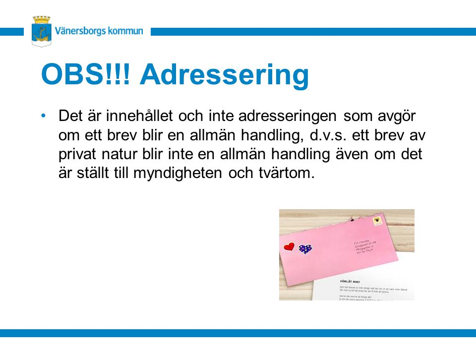 OBS!!! Adressering