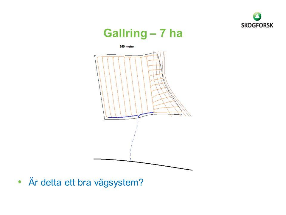 Gallring – 7 ha Är detta ett bra vägsystem