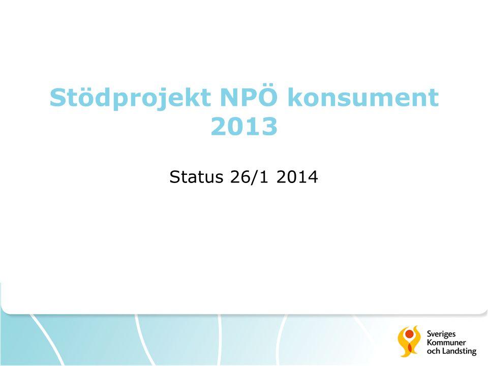Stödprojekt NPÖ konsument 2013