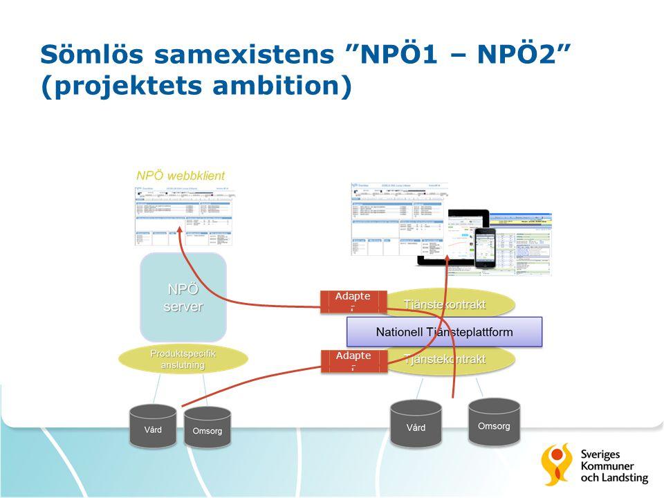 Sömlös samexistens NPÖ1 – NPÖ2 (projektets ambition)
