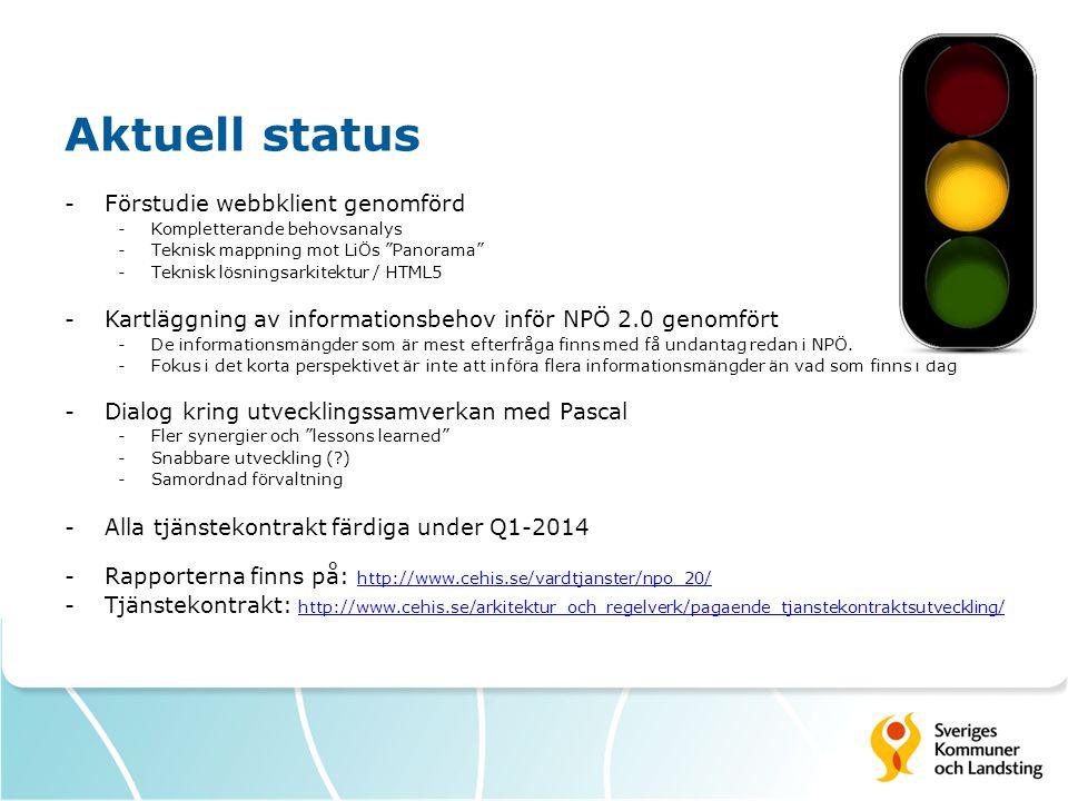 Aktuell status Förstudie webbklient genomförd
