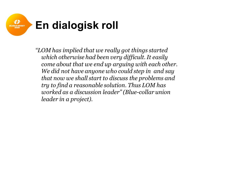 En dialogisk roll