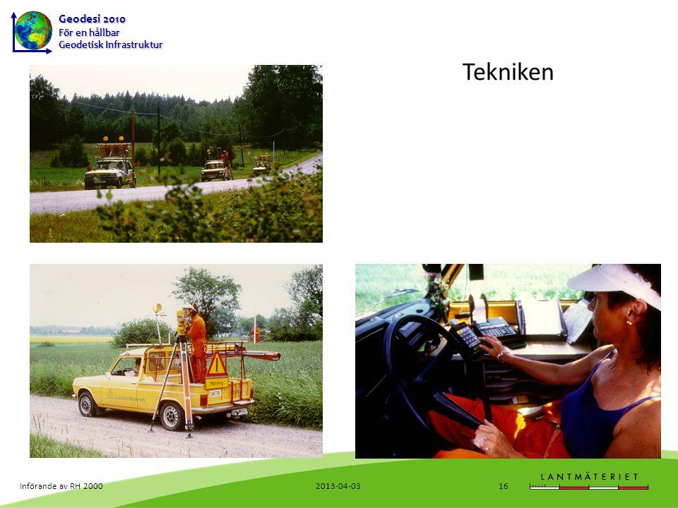 Tekniken Införande av RH 2000 2013-04-03