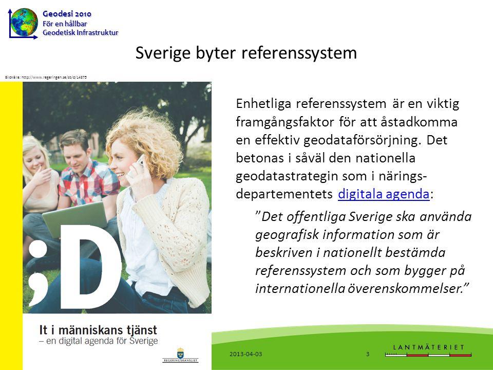 Sverige byter referenssystem
