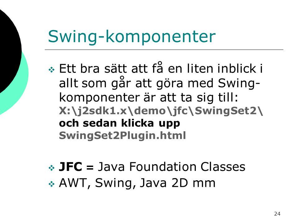 Swing-komponenter