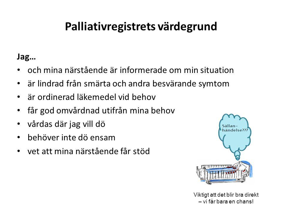 Palliativregistrets värdegrund
