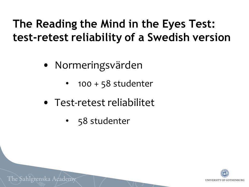Test-retest reliabilitet