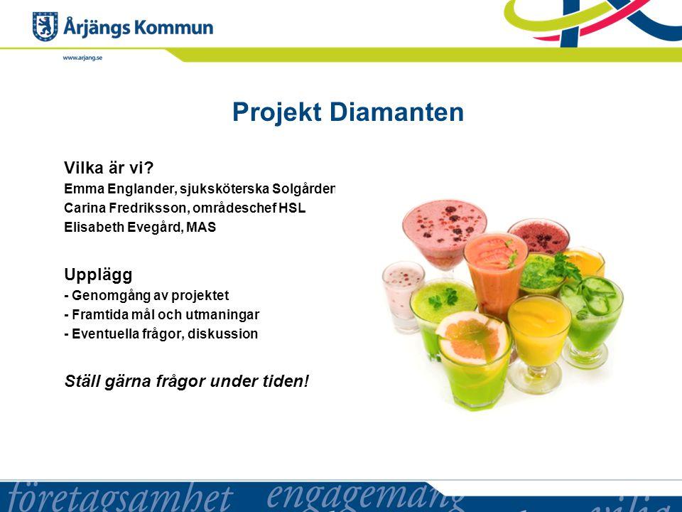 Projekt Diamanten Vilka är vi Upplägg Ställ gärna frågor under tiden!