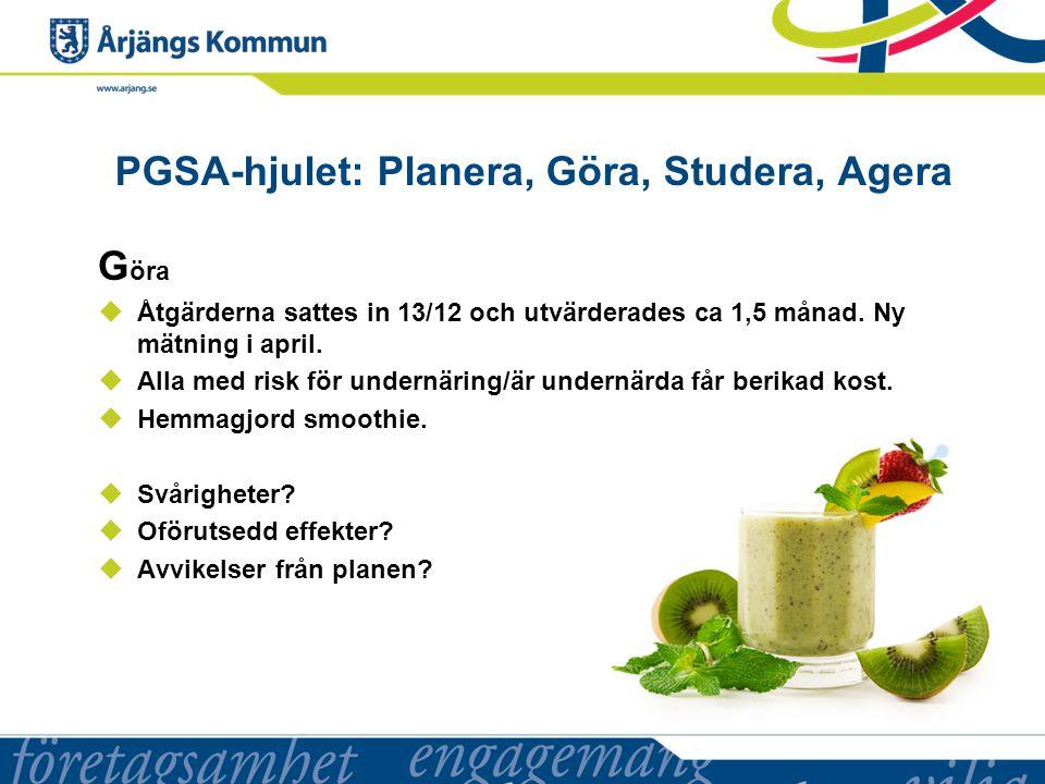 PGSA-hjulet: Planera, Göra, Studera, Agera