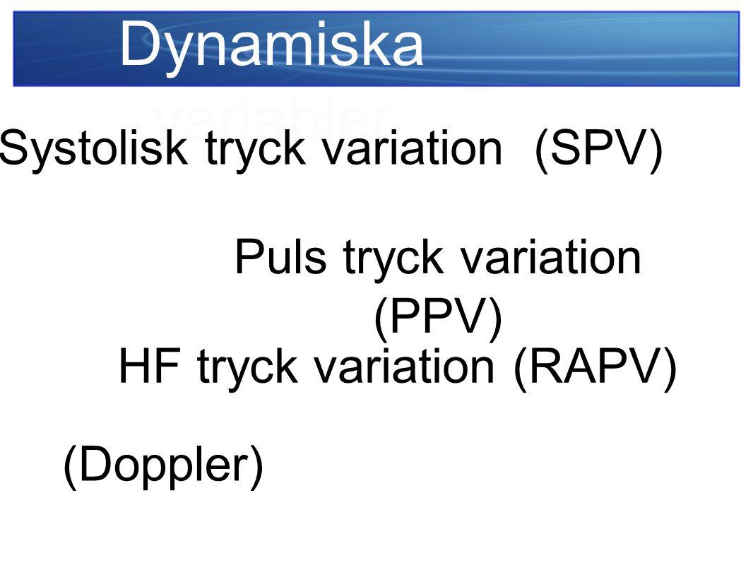 Dynamiska variabler Systolisk tryck variation (SPV)
