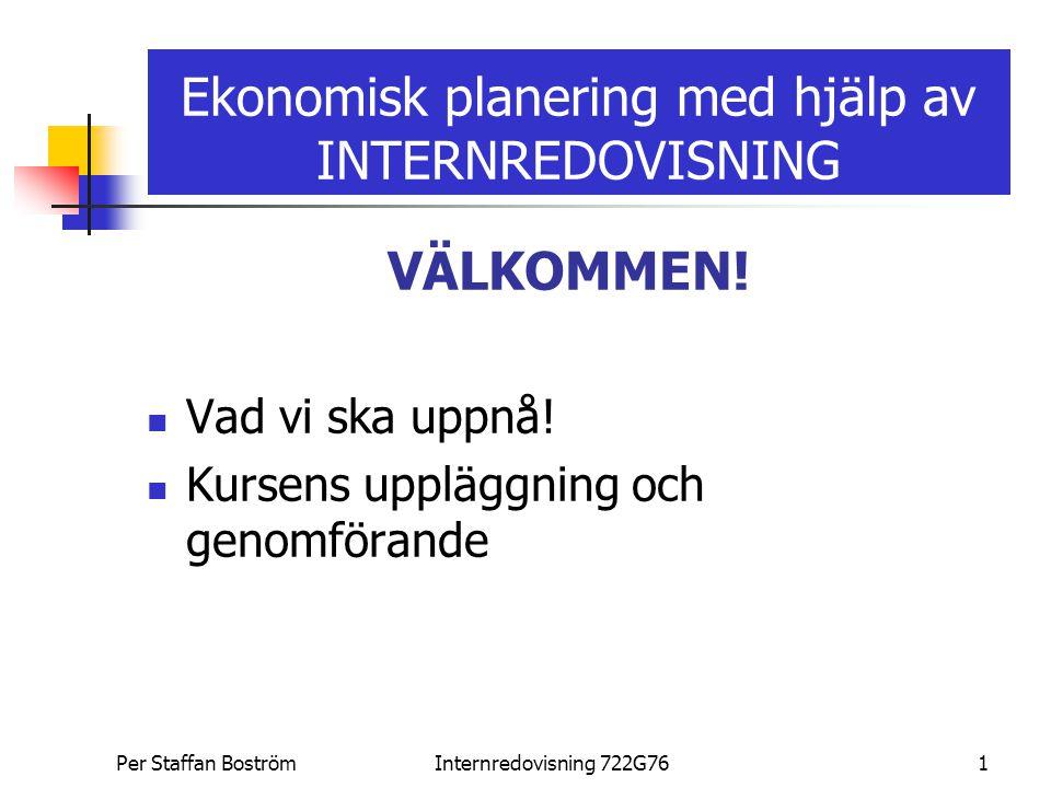Ekonomisk planering med hjälp av INTERNREDOVISNING