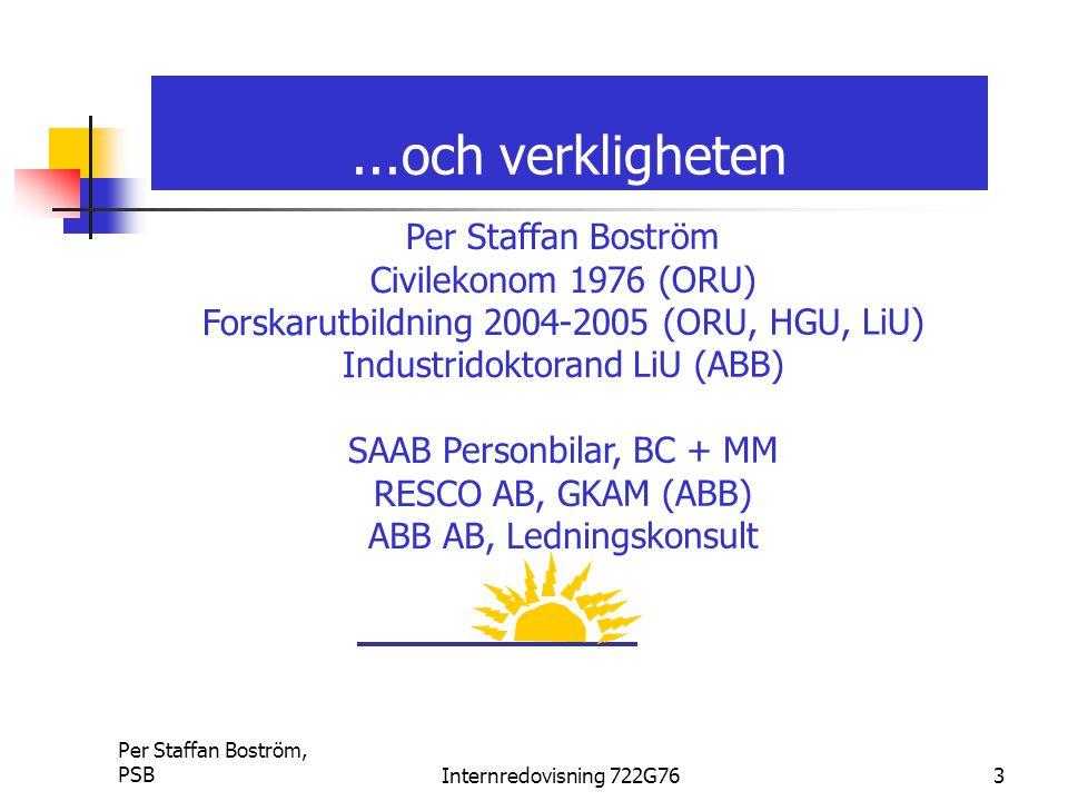 ...och verkligheten Per Staffan Boström Civilekonom 1976 (ORU)