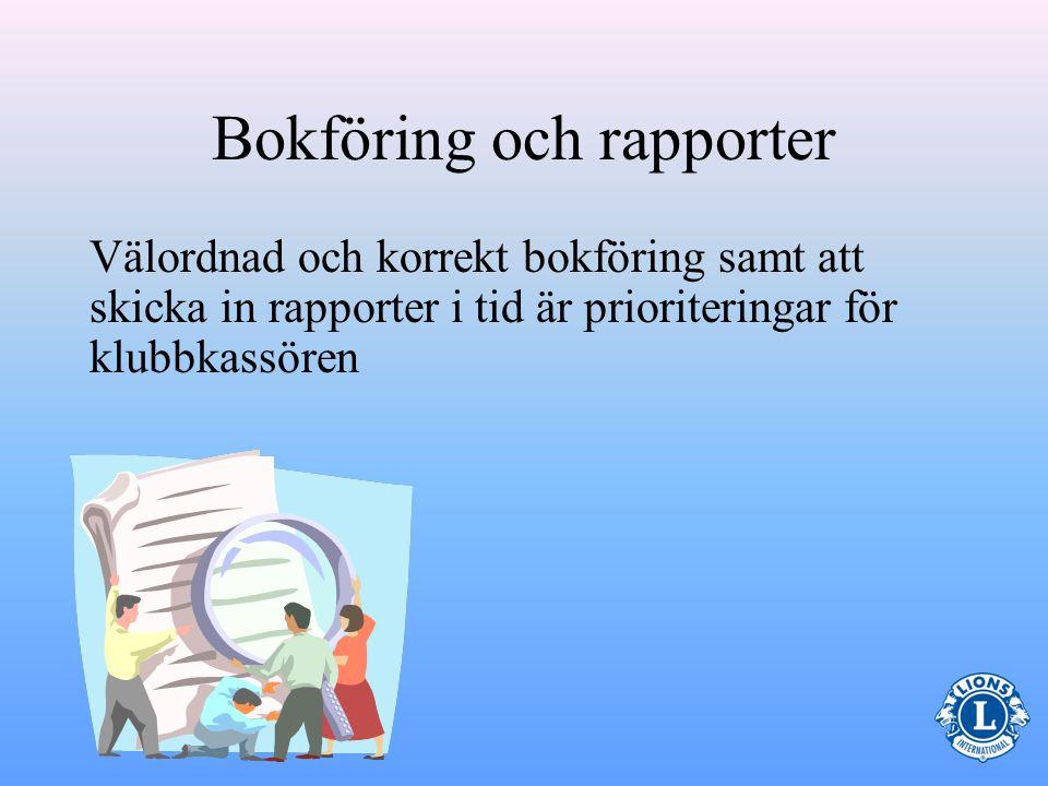 Bokföring och rapporter