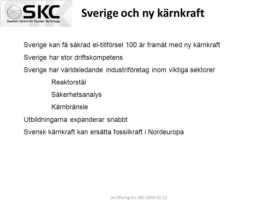 Sverige och ny kärnkraft