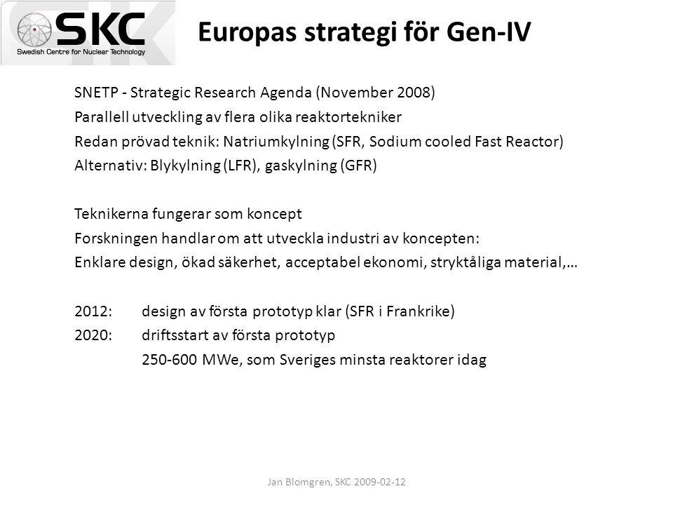 Europas strategi för Gen-IV