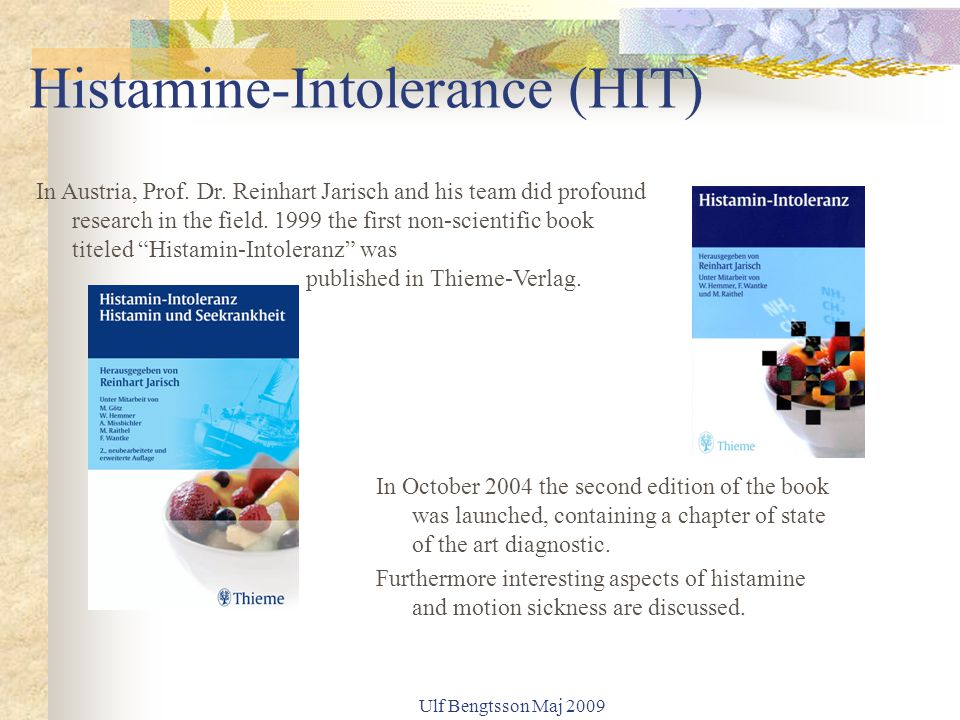 Histamine-Intolerance (HIT)
