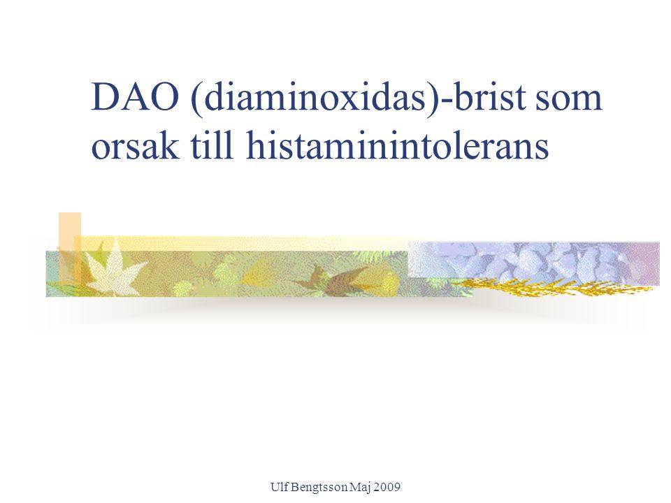 DAO (diaminoxidas)-brist som orsak till histaminintolerans