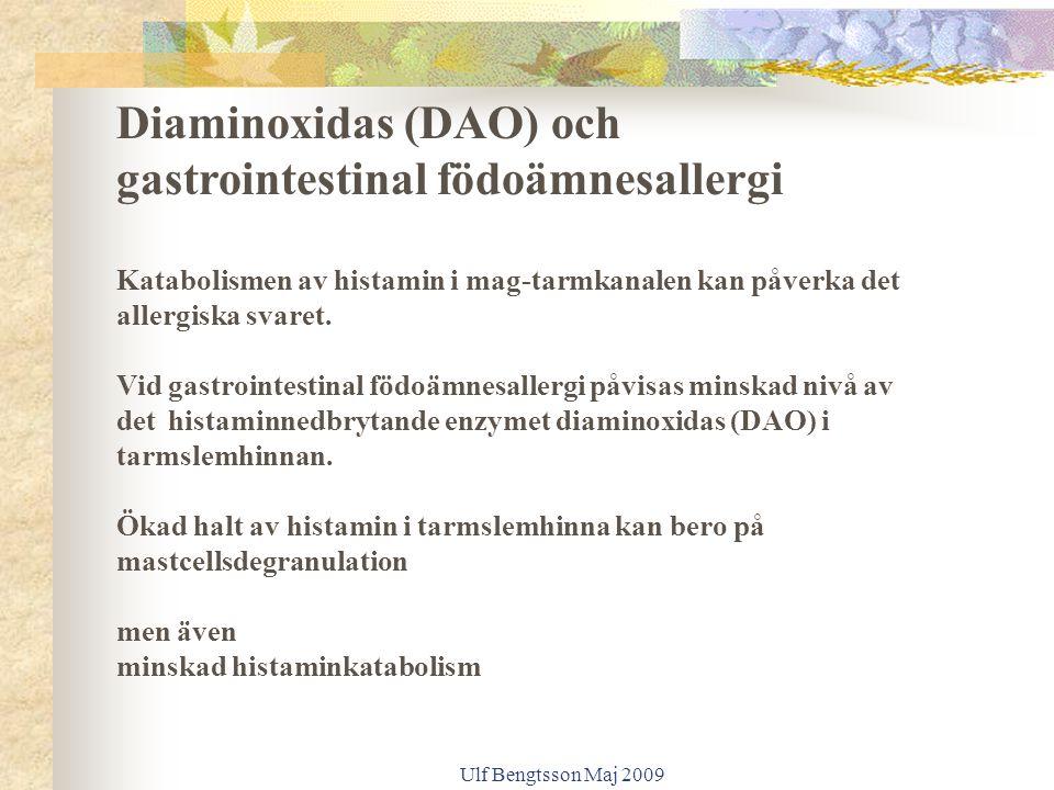 Diaminoxidas (DAO) och gastrointestinal födoämnesallergi