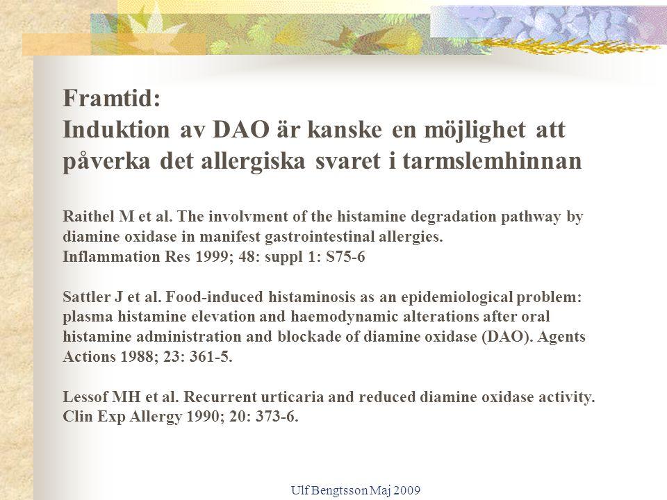 Framtid: Induktion av DAO är kanske en möjlighet att påverka det allergiska svaret i tarmslemhinnan.