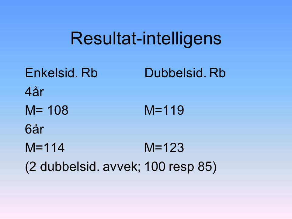 Resultat-intelligens