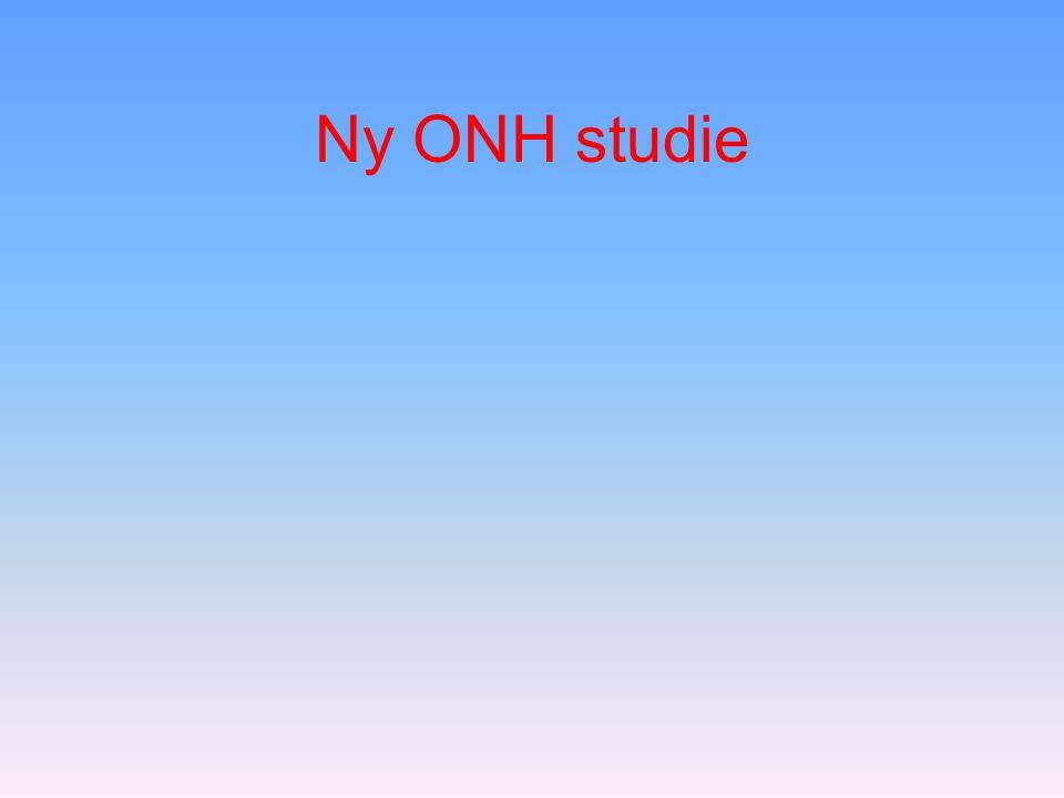 Ny ONH studie