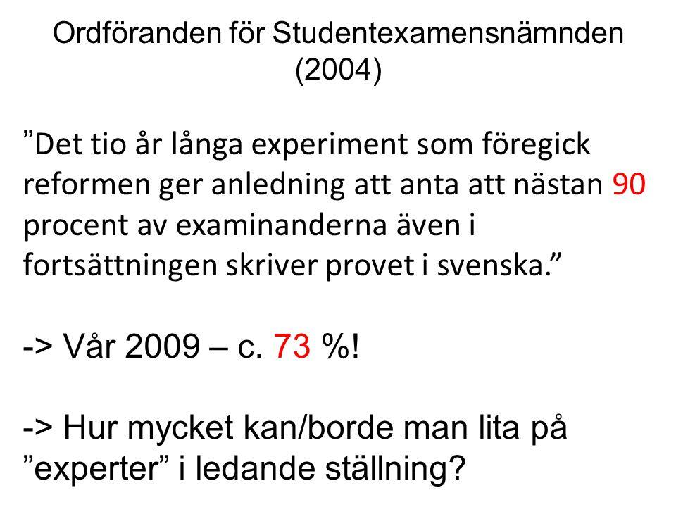 Ordföranden för Studentexamensnämnden (2004)