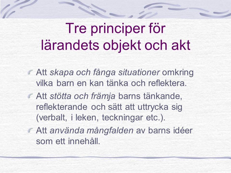 Tre principer för lärandets objekt och akt