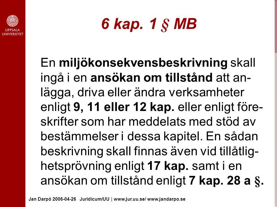 6 kap. 1 § MB
