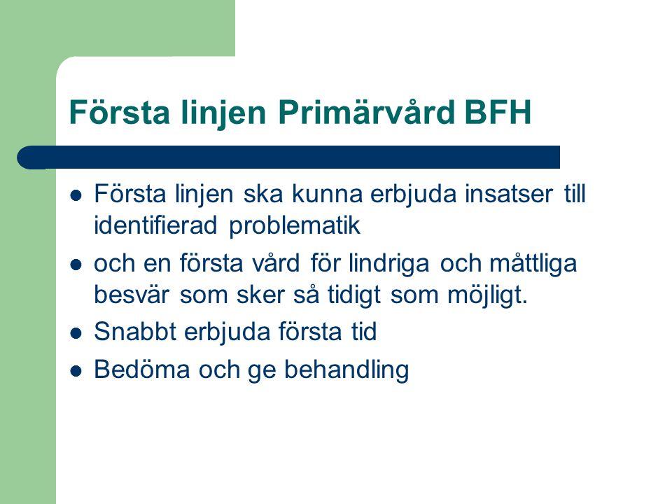 Första linjen Primärvård BFH