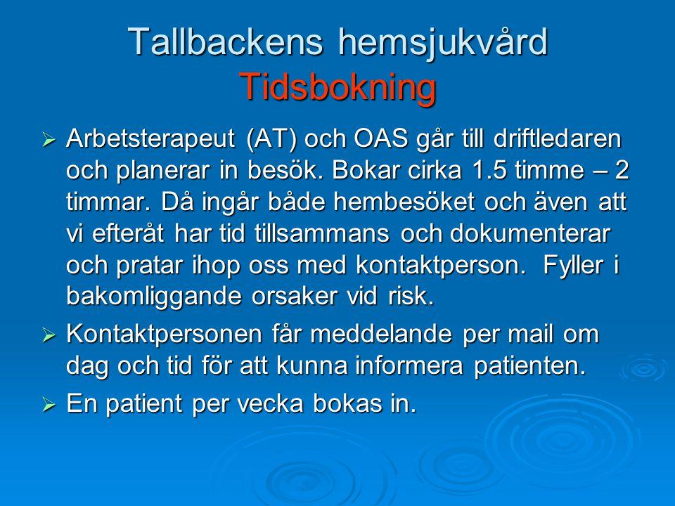 Tallbackens hemsjukvård Tidsbokning