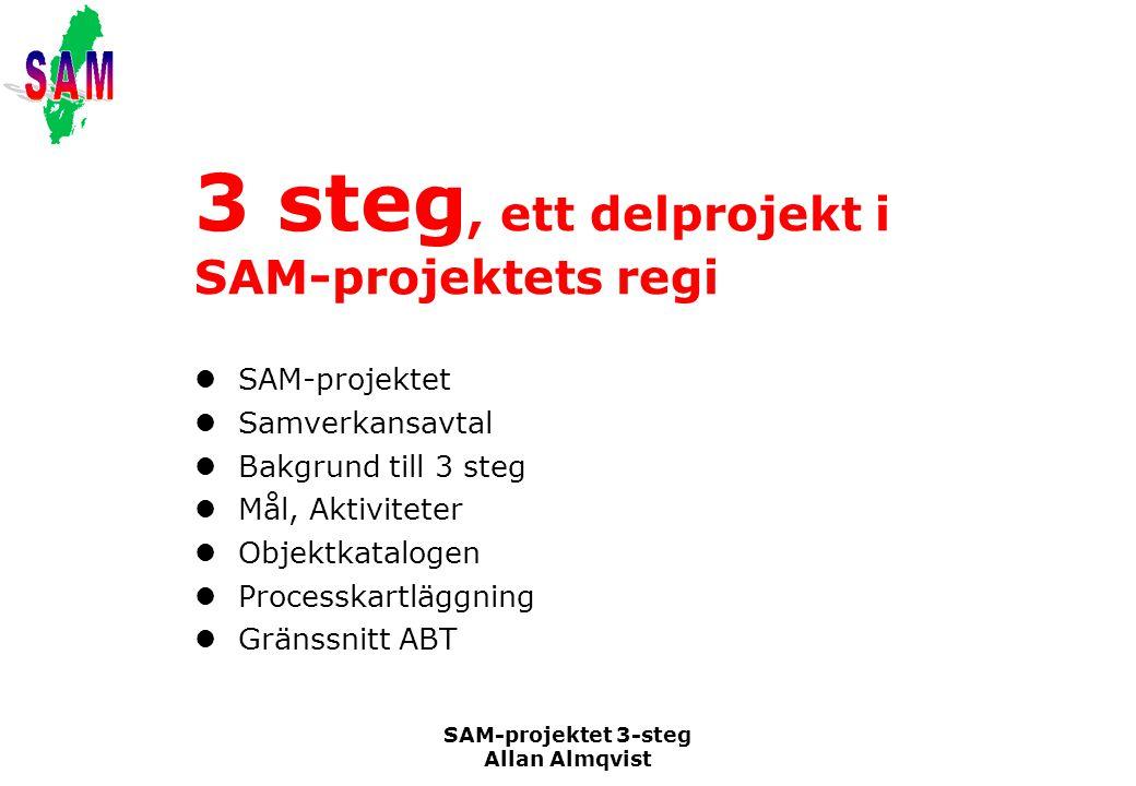 3 steg, ett delprojekt i SAM-projektets regi