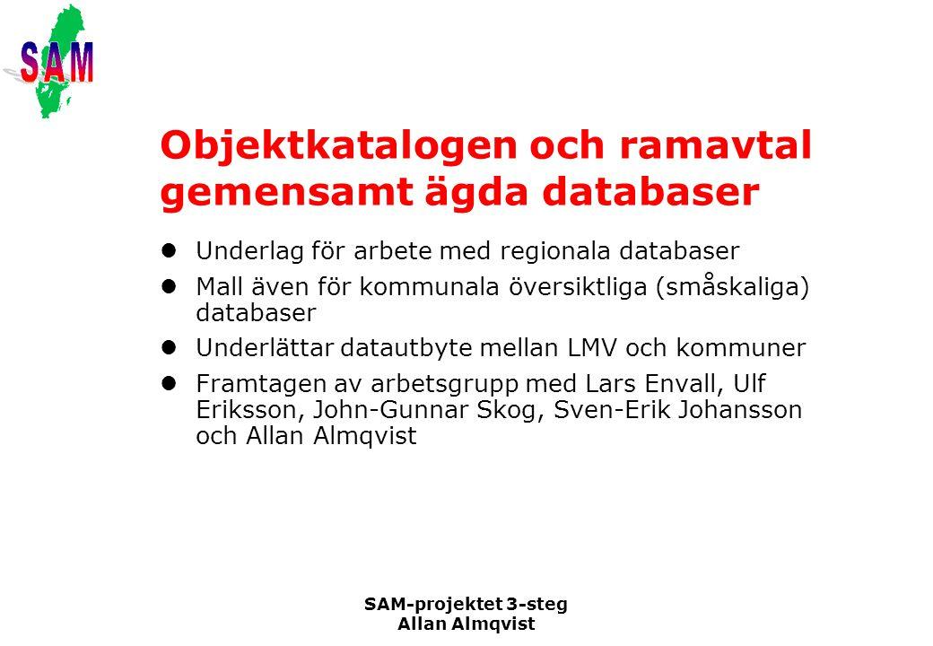 Objektkatalogen och ramavtal gemensamt ägda databaser