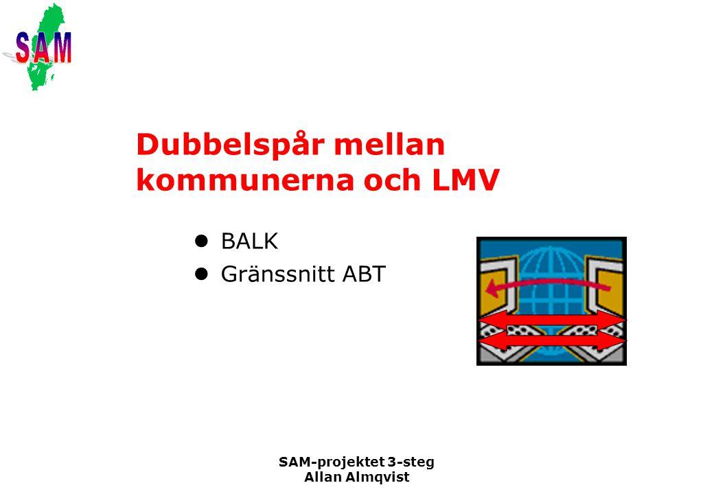 Dubbelspår mellan kommunerna och LMV