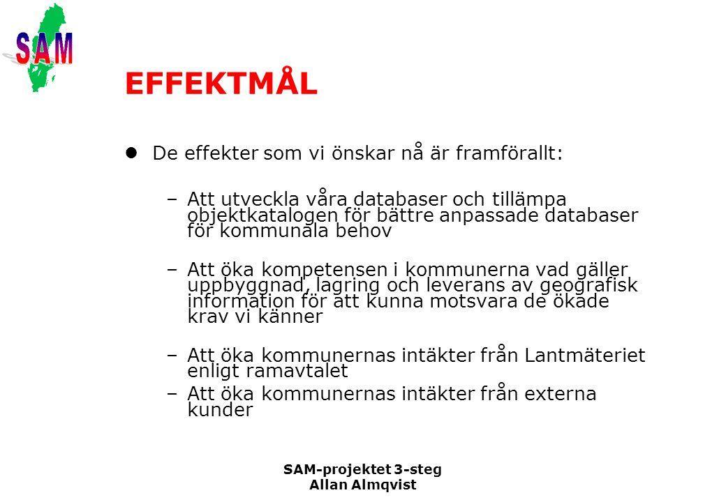 EFFEKTMÅL De effekter som vi önskar nå är framförallt: