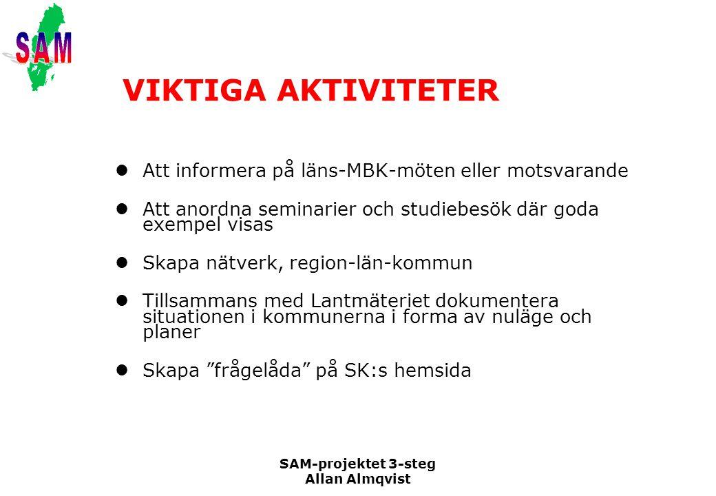 VIKTIGA AKTIVITETER Att informera på läns-MBK-möten eller motsvarande