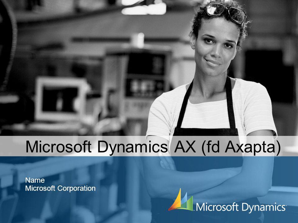 Microsoft Dynamics AX (fd Axapta)