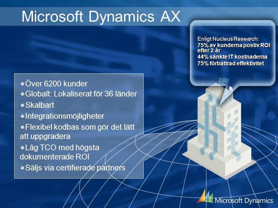 Microsoft Dynamics AX Över 6200 kunder