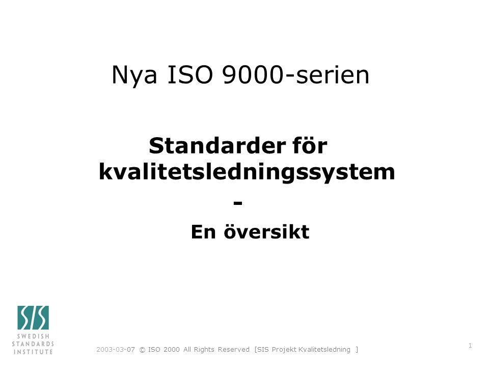 Standarder för kvalitetsledningssystem