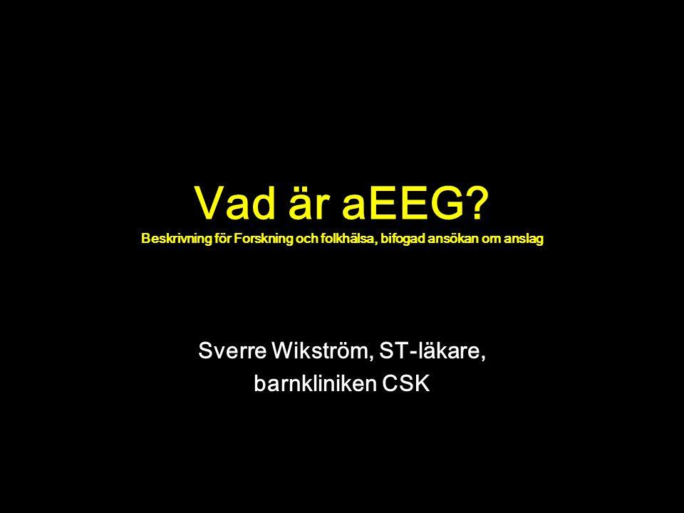 Sverre Wikström, ST-läkare, barnkliniken CSK