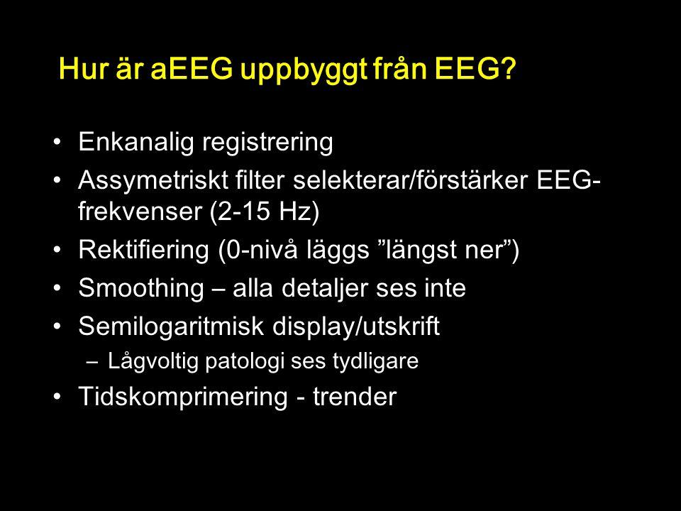 Hur är aEEG uppbyggt från EEG