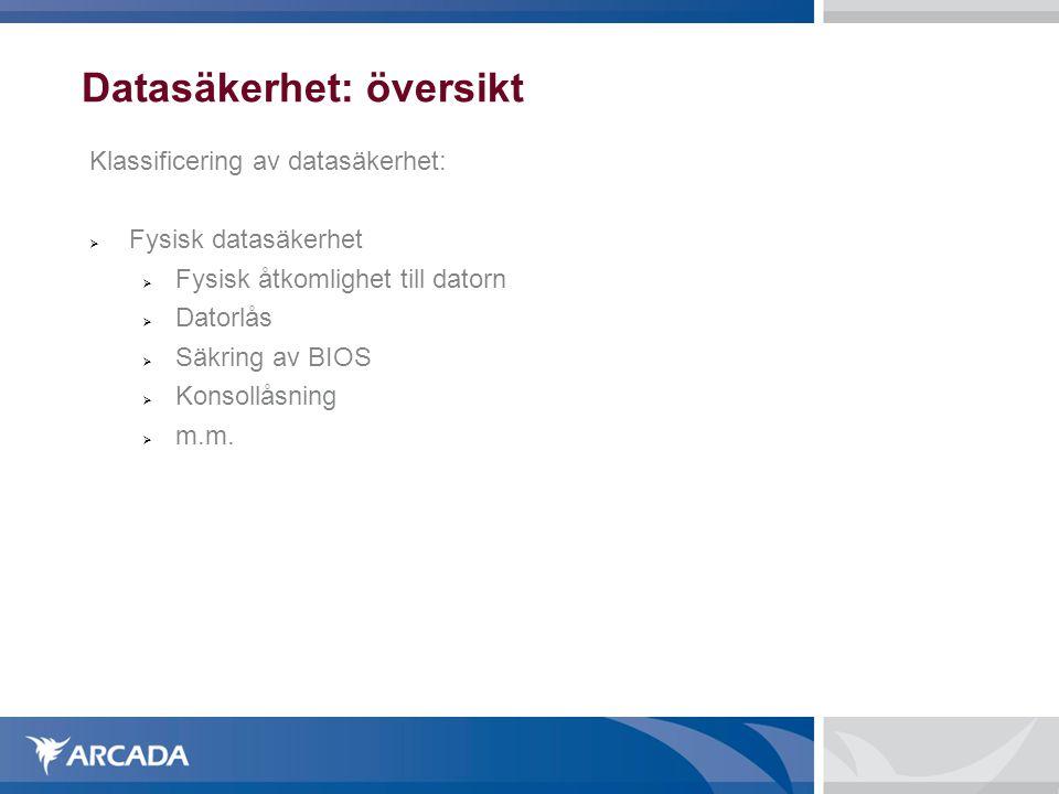 Datasäkerhet: översikt