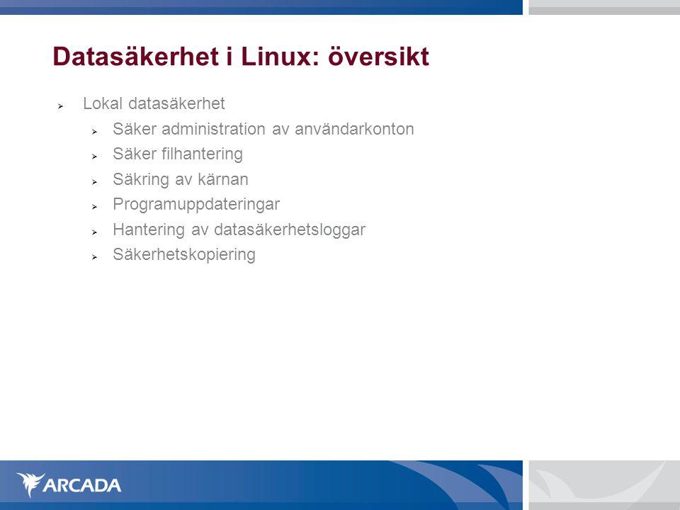 Datasäkerhet i Linux: översikt